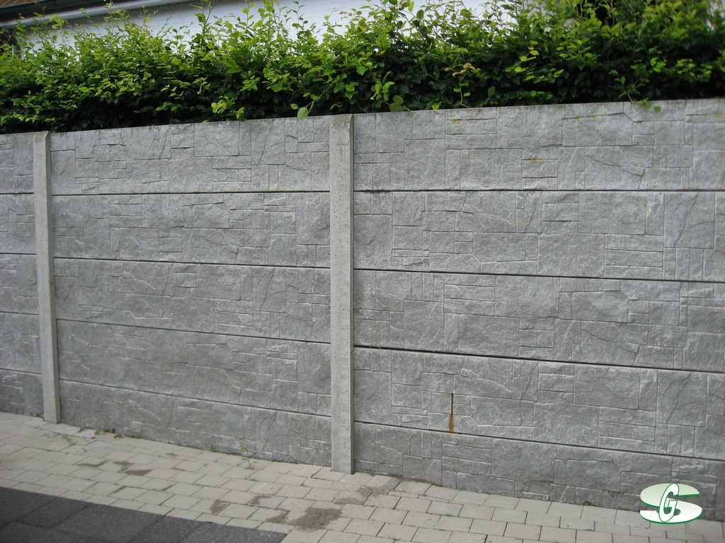 Beton afsluiting for Moderne afsluiting tuin